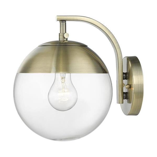 Golden Lighting Dixon 1-Ligh Wall Sconce - Aged Brass