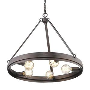 Golden Lighting Drew 5-Light Rubbed Bronze Modern/Contemporary Abstract Chandelier