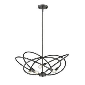 Golden Lighting Cosmic 5-Light Etruscan Bronze Modern/Contemporary Candle Chandelier