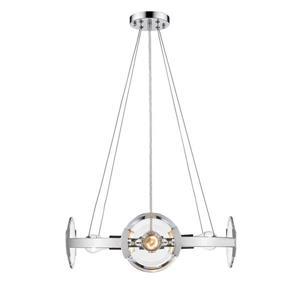 Golden Lighting Amari 4-Light Chrome Modern/Contemporary Clear Glass Drum Chandelier