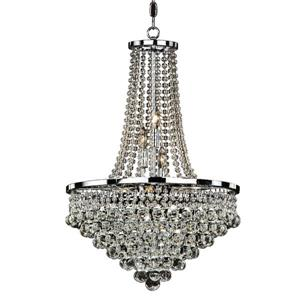 Glow Lighting Summerhill 19-in Chrome 9-Bulb Chandelier