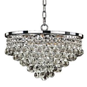 Glow Lighting Summerhill 15-in Chrome 6-Bulb Chandelier