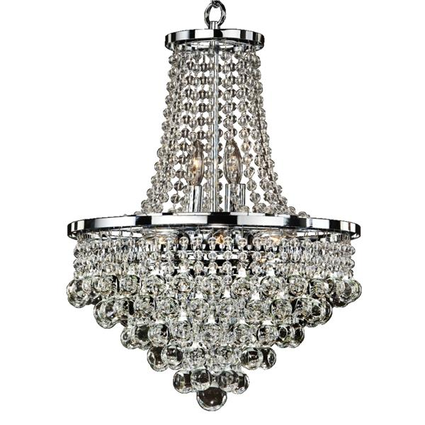 Glow Lighting Summerhill 16-in Chrome 8-Bulb Chandelier