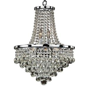 Glow Lighting Summerhill 16-in Chrome 8-Bulb Chandelier