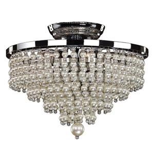Glow Lighting Cava 13-in Chrome Chandelier