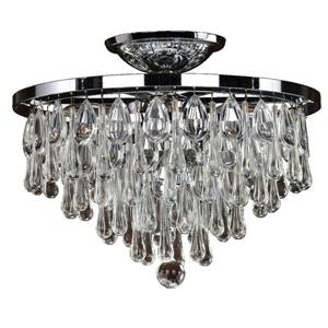 Summer Rain 16-in Chrome Chandelier