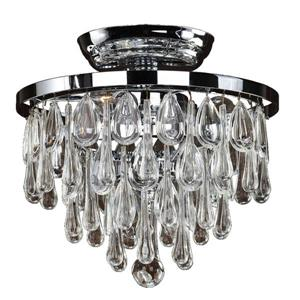 Glow Lighting Summer Rain 10-in Chrome Chandelier