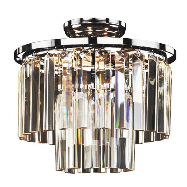 Glow Lighting 13-in Chrome Chandelier