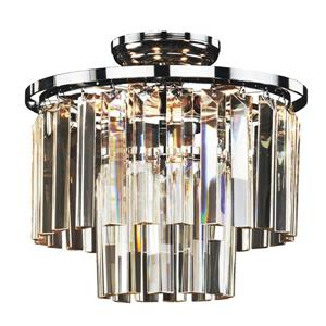 Glow Lighting 13-in Chrome Chandelier