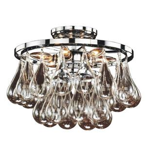 Glow Lighting Concorde 13-in Chrome Chandelier