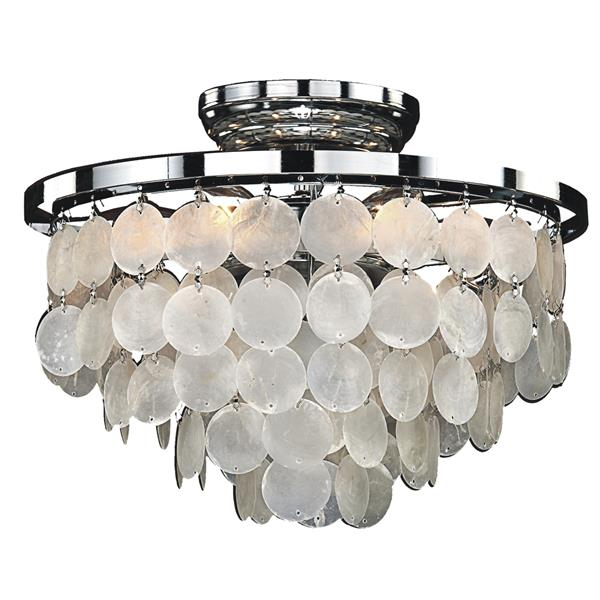 Bayside 13-in Chrome Chandelier