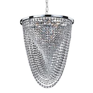 Glow Lighting Oasis 16-in Chrome Chandelier
