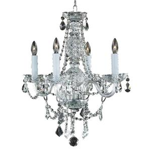 Glow Lighting Crystal Palace 18-in Chrome Chandelier