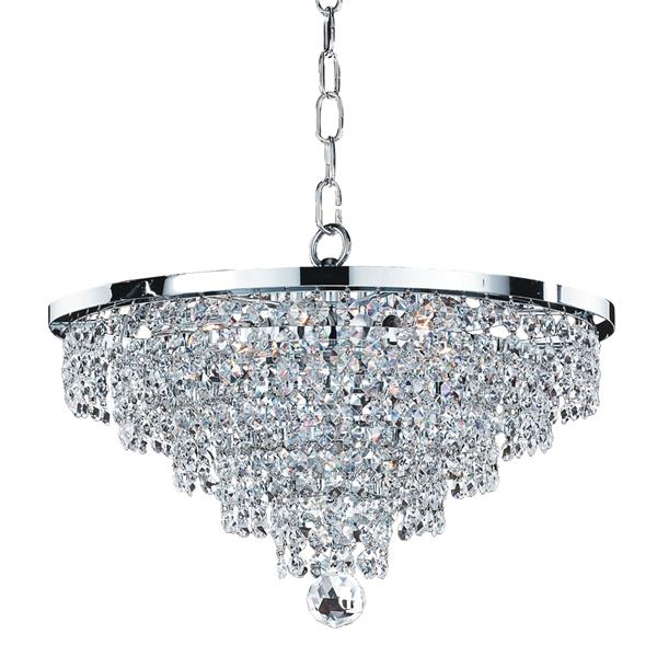 Glow Lighting Vista 15-in Chrome 6-Bulb Chandelier