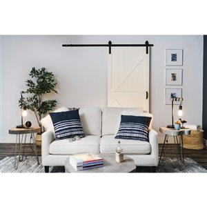 ReliaBilt 36-in x 84-in Off-White K Barn Door And Hardware Kit
