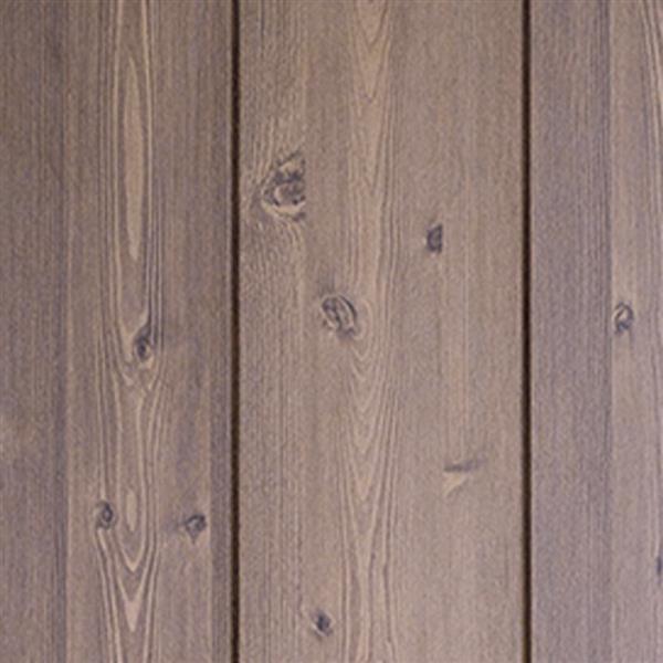 Porte de grange à X avec quincaillerie, brun