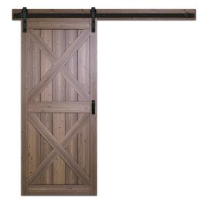 Renin 36-in x 84-in Brown Pre-Drilled X Barn Door