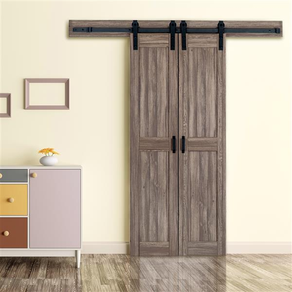 Reliabilt Double Barn Door With Hardware Kit Taupe