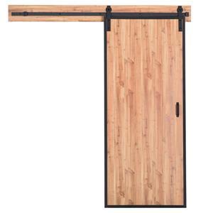 Porte de grange avec quincaillerie, pin naturel