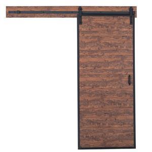 Porte de grange rustique avec quincaillerie, acadia