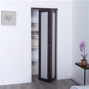 ReliaBilt 36-in x 80-in Dark Brown Frosted Glass Closet Door