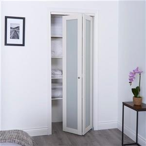 Frosted Glass Closet Door - Off-White