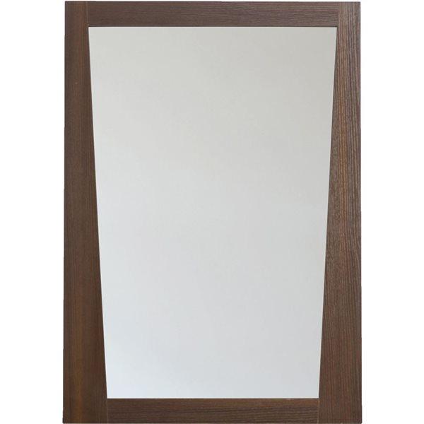 """Miroir Vee, 23,5"""" x 33,5"""", bois, brun"""