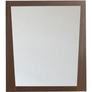 """Miroir Vee, 29,5"""" x 33,5"""", bois, brun"""