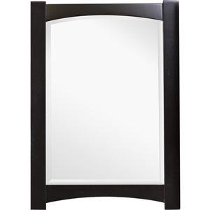 "Miroir Elite, 24"" x 34"", bois, brun"