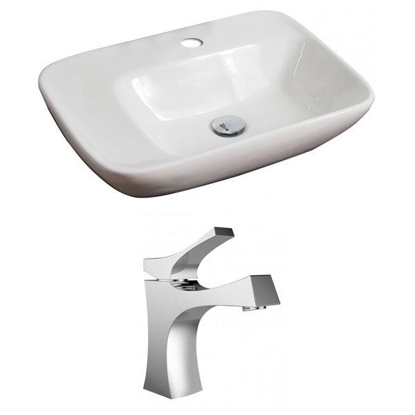 """Ens. vasque avec trop-plein, 23,5"""", céramique, blanc"""