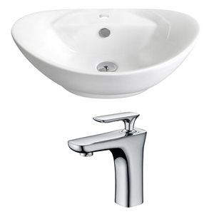"""Ens. vasque avec trop-plein, 23"""", céramique, blanc"""