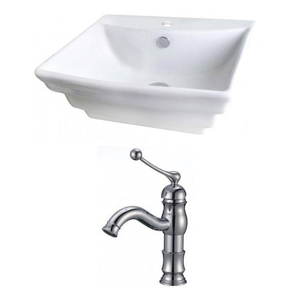 """Ens. vasque avec trop-plein, 19,75"""", céramique, blanc"""
