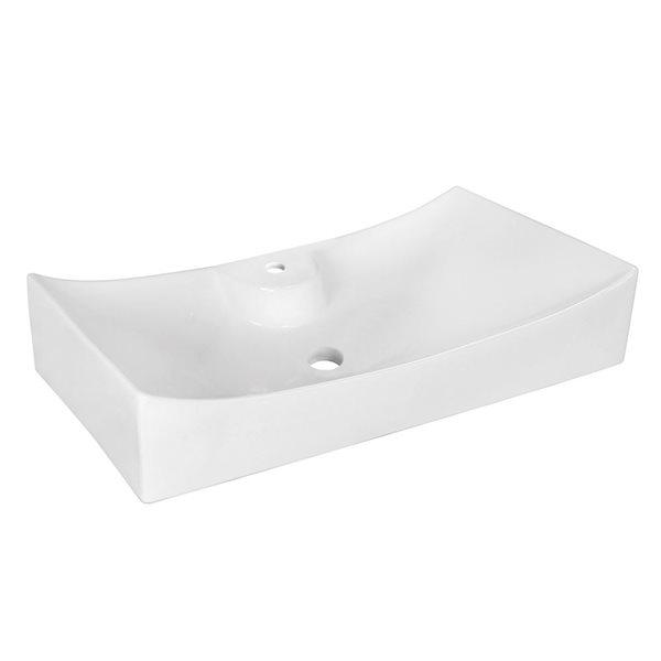 """Vasque avec trop-plein, 26,25"""", céramique, blanc"""