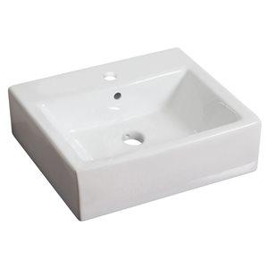 """American Imaginations Above-Counter Vessel - 21"""" - Ceramic - White"""