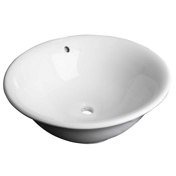 """Vasque avec trop-plein, 17"""", céramique, blanc"""