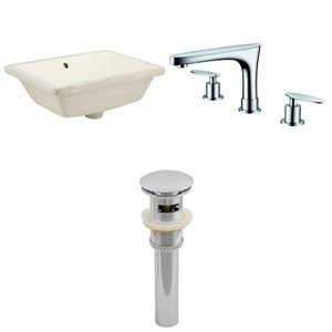 "American Imaginations Undermount Sink Set - 18.25"" - Ceramic - Biscuit"