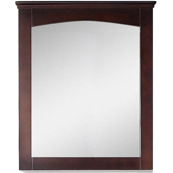 American Imaginations Shake  30-in x 31.5-in Brown Wood Mirror