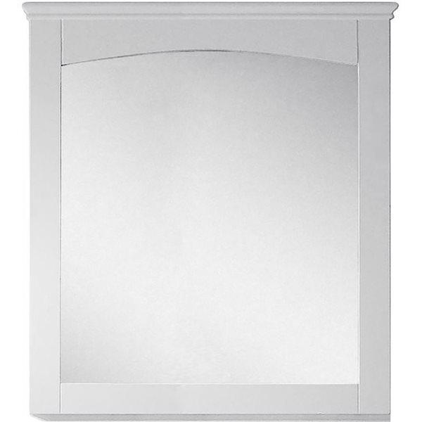"Miroir Shaker, 30"" x 31,5"", bois, blanc"
