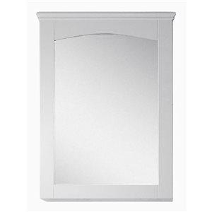 "Miroir Shaker, 24"" x 31,5"", bois, blanc"