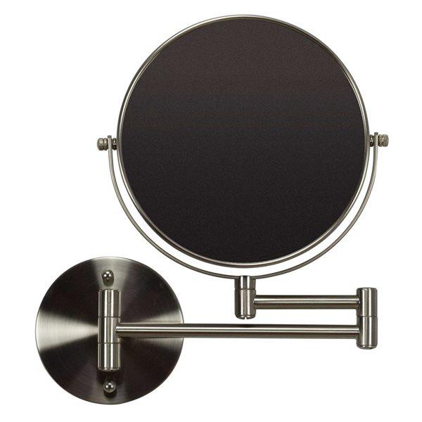 "Miroir, 19,56"" x 12,14"", métal, nickel"