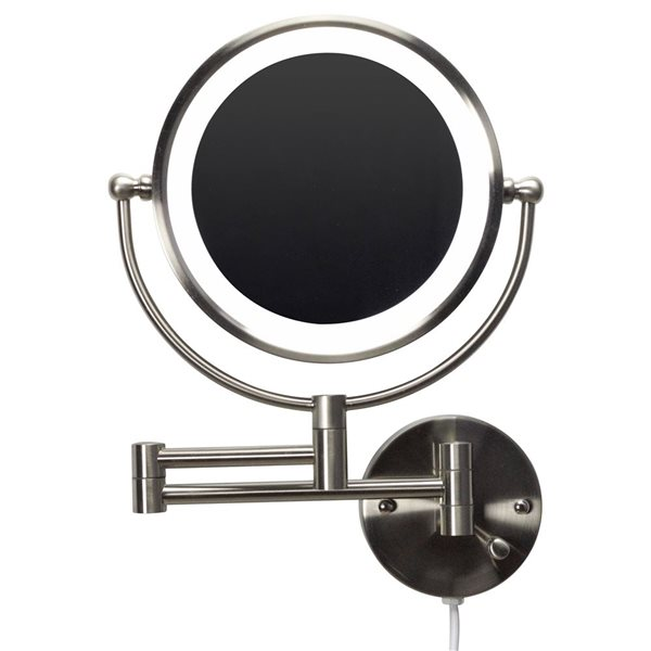 "Miroir, 20,83"" x 14,57"", métal, nickel"