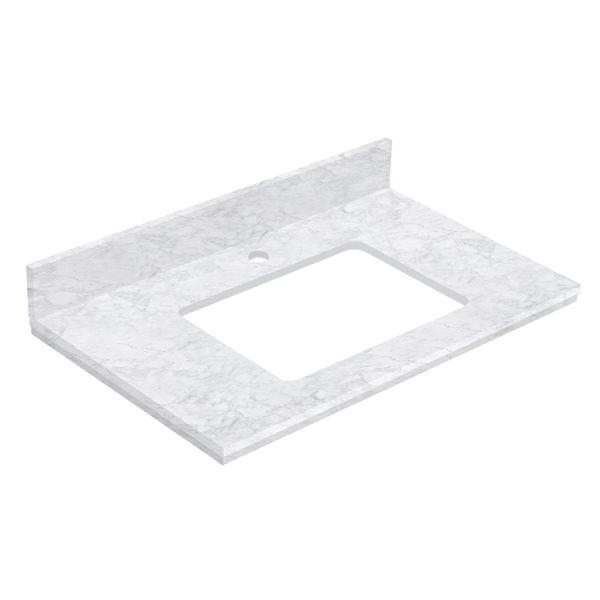 American Imaginations 30.5- in White Shaker Quartz Vanity Top