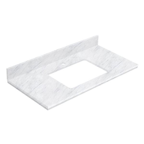 American Imaginations 36- in x 18.25- in White Shaker Quartz Vanity Top