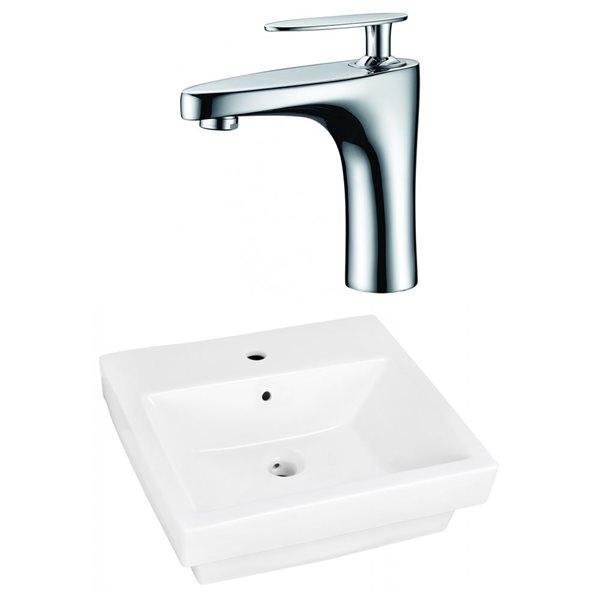"""Ens. vasque avec trop-plein, 20,5"""", céramique, blanc"""