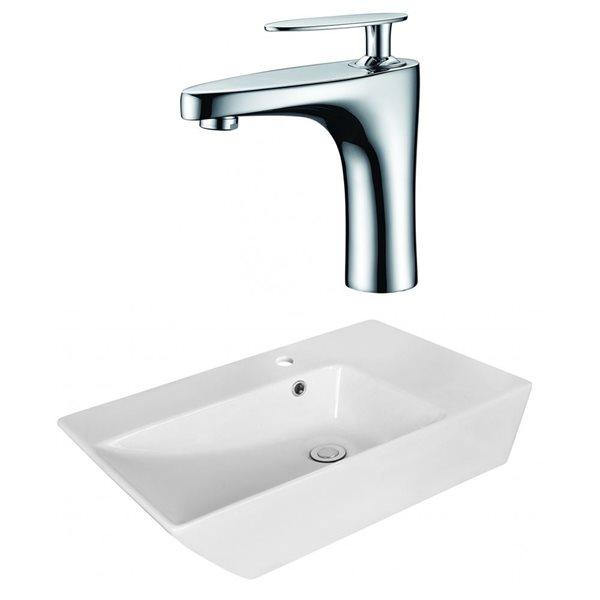 """Ens. vasque avec trop-plein, 25,5"""", céramique, blanc"""