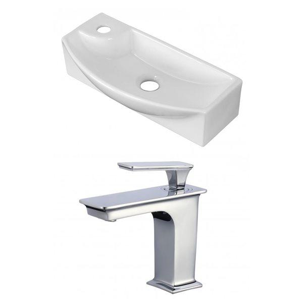 "American Imaginations Above-Counter Vessel Set - 17.75"" - Ceramic - White"