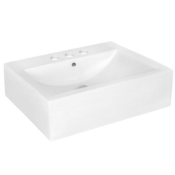 """Vasque avec trop-plein, 20,25"""", céramique, blanc"""