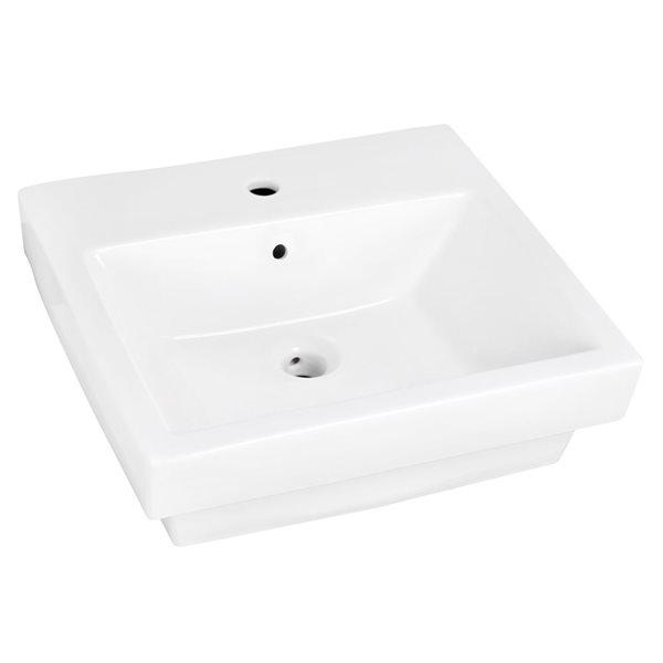 """Vasque avec trop-plein, 20,5"""", céramique, blanc"""