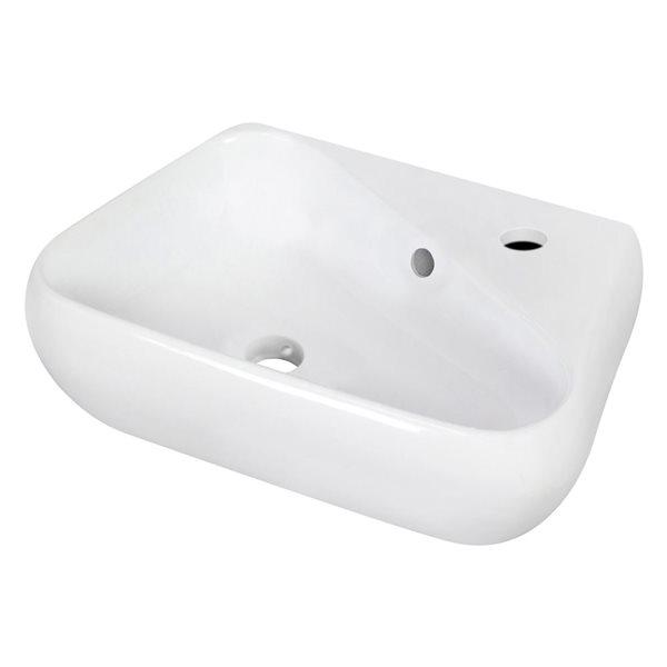 """Vasque avec trop-plein, 17,5"""", céramique, blanc"""