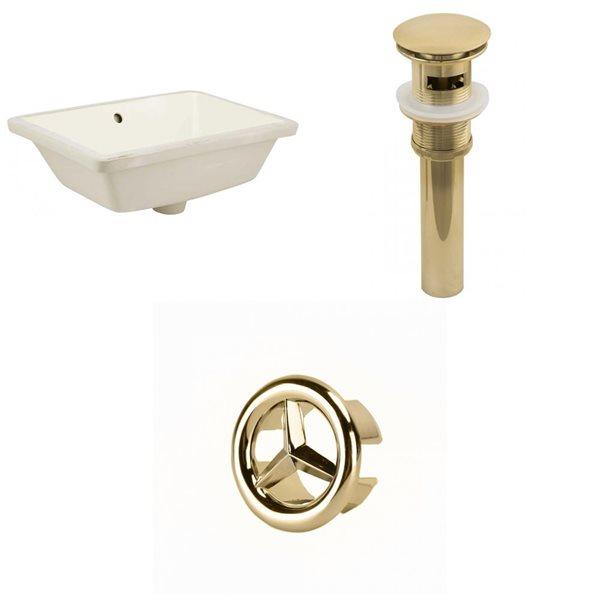 "American Imaginations Sink Set - 18.25"" - Ceramic - Biscuit"
